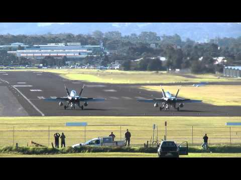 F/A-18 Hornets - 30-40 Knot Cross Wind Take-Off Mp3