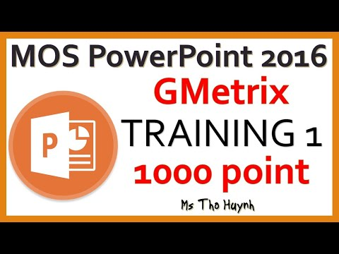 MOS PowerPoint 2016 Exam 1 - YouTube