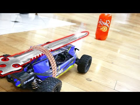 RC CAR VS SODA!! (NINJA WEAPON MOD)