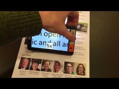 The explorē 5 handheld electronic magnicier from HumanWare