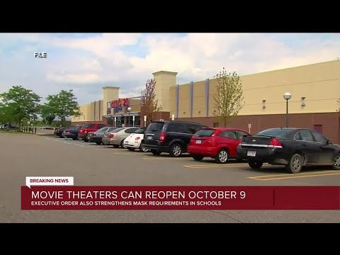 Gov. Whitmer says movie theaters and bowling alleys can reopen after Oct. 9