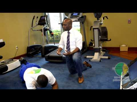 Dr. Koi Ibrahim demonstrates How to Use a Foam Roller