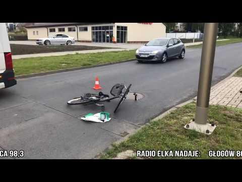 Wideo: Potrącenie rowerzysty w Lubinie