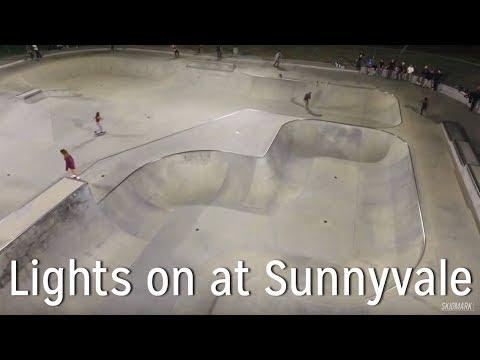 Lights on at Sunnyvale Skatepark