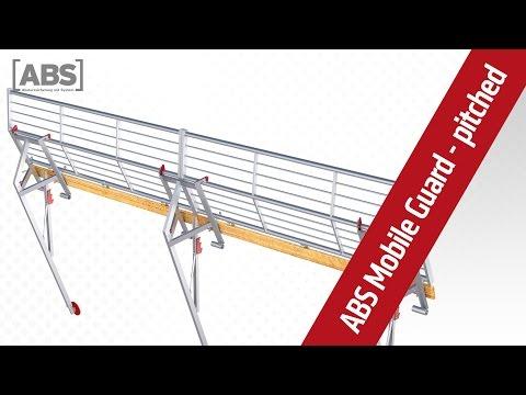 Présentation vidéo compacte concernant le garde-corps de protection ABS Mobile Guard – pitched