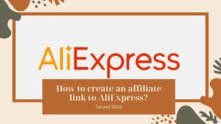 How to create an affiliate link to AliExpress ?    AliExpress 2020