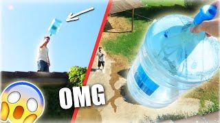RETO de la BOTELLA 2! TEJADO EXTREMO! (WATER BOTTLE FLIP CHALLENGE)