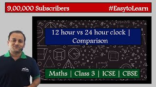Comparison between a 12-hour clock and a 24-hour clock