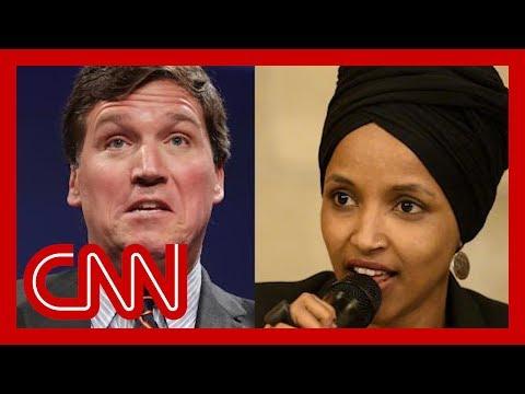 Omar responds to Carlson's claim that she hates America