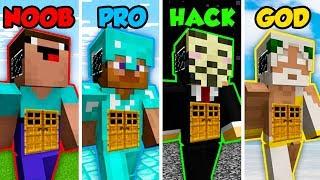 Minecraft NOOB vs. PRO vs. HACKER vs GOD: GIANT LIVING HOUSE in Minecraft! (Animation)