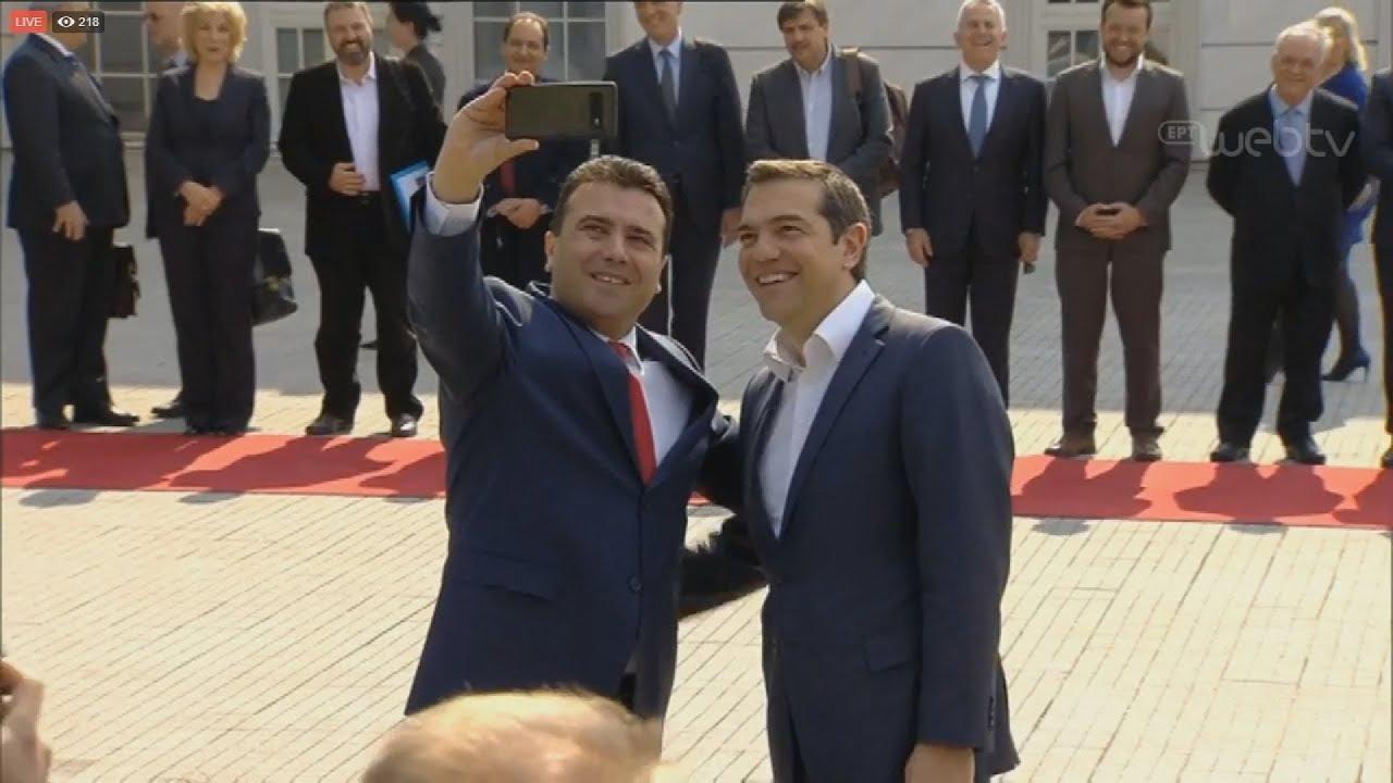 Με selfie Ζάεφ- Τσίπρα η τελετή υποδοχής του Έλληνα πρωθυπουργού