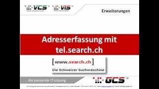 GCS Adresserfassung mit webportal tesearch.ch
