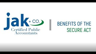 SECURE Act Benefits