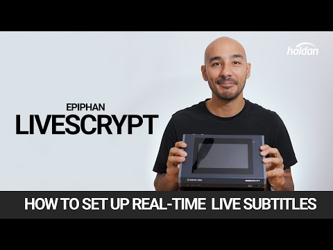 Easy Real-Time Transcription with Epiphan LiveScrypt | Live Subtitles for Events & Streaming