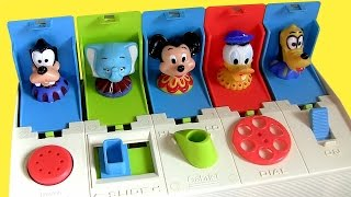 "From Playskool this is Disney Baby Poppin' Pals Surprise toy with Mickey Mouse, Donald Duck, Pluto, Goody and Dumbo presented by Blu Toys Surprise Brinquedos. Kiddie favorites characters pop-up from their hiding places. For babies and toddlers. Just push button, slide lever, turn knob, move dial or flick switch to unlock surprise toys hidden. This is a vintage pop-up toy from 1980's - I also compared with the Musical Disney Bowtique Pop-up Surprise Toy with Fifi, Daisy Duck, Minnie Mouse and Figaro by Disney-Baby. Also showed the Sesame Street Musical Pop-Up Pals by Mattel with Oscar, Elmo, Cookie Monster. Just Press the button or lever in front of each door to reveal your child's favorite Sesame Street characters, like Ernie singing ""Rubber Duckie"", Elmo sings ""Elmo's World"", Cookie Monster sings ""C is for Cookie"" and Oscar song is ""I Love Trash"".   Cookie Monster is a famous Muppet from the TV show Sesame Street the Muppets. He's known to say Me want cookie. He is also called in other countries Koekiemonster, Come-Come, Kakemonsteret, クッキーモンスター, Kakmonstret, Коржик, Sesamstraße, ""Бисквитено чудовище"" ""Das Krümelmonster"" ""El Monstruo de las Galletas"" ""Macaron le glouton"" ""Mostro dei biscotti, ,  ""Monstro das Bolachas"" ""Улица Сезам"" ""Barrio Sésamo"" ""Sesamo apriti"".   Watch ""Play Doh Pixar Cars Mold N Go Speedway"" Playset: https://www.youtube.com/watch?v=K0wRMSDZbfM  Shark Attack Micro Drifters Cars Hot Wheels Color Changers: https://www.youtube.com/watch?v=WjRCdjt-Nfw  Huge Firetruck Red Sprays Water Tomica Cars2 Takara Tomy. https://www.youtube.com/watch?v=E6GA1Q7cVrY  Firetruck Red Hydro-Wheels Sprays Water Carro lanza agua. https://www.youtube.com/watch?v=itN-2PkW4O0  Cookie Monster Pool Party Hydro Wheels Cars Clutchgoneski: https://www.youtube.com/watch?v=SMbNjTXSpCk"