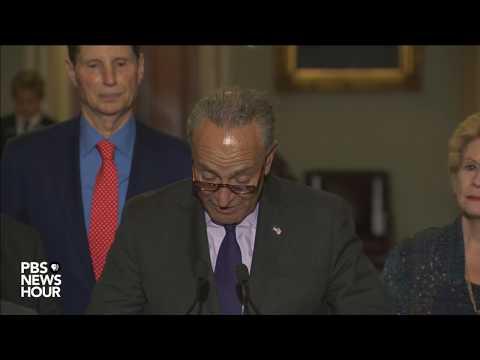 Senate Democratic leaders speak after health care vote