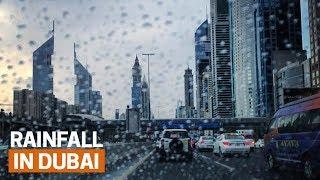 It's raining in Dubai | Rare Moments UAE