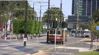 preview picture of video 'Melbourne City Circle tram 728'