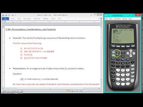 Factorials, Permutations, and Combinations on the TI-84 - смотреть