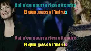KARAOKÉ Lara Fabian & Maurane  Tu Es Mon Autre DUO