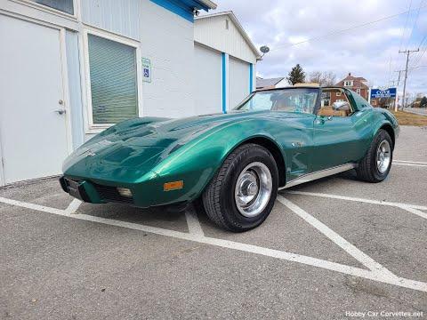 1977 Green Corvette Saddle Interior For Sale Video