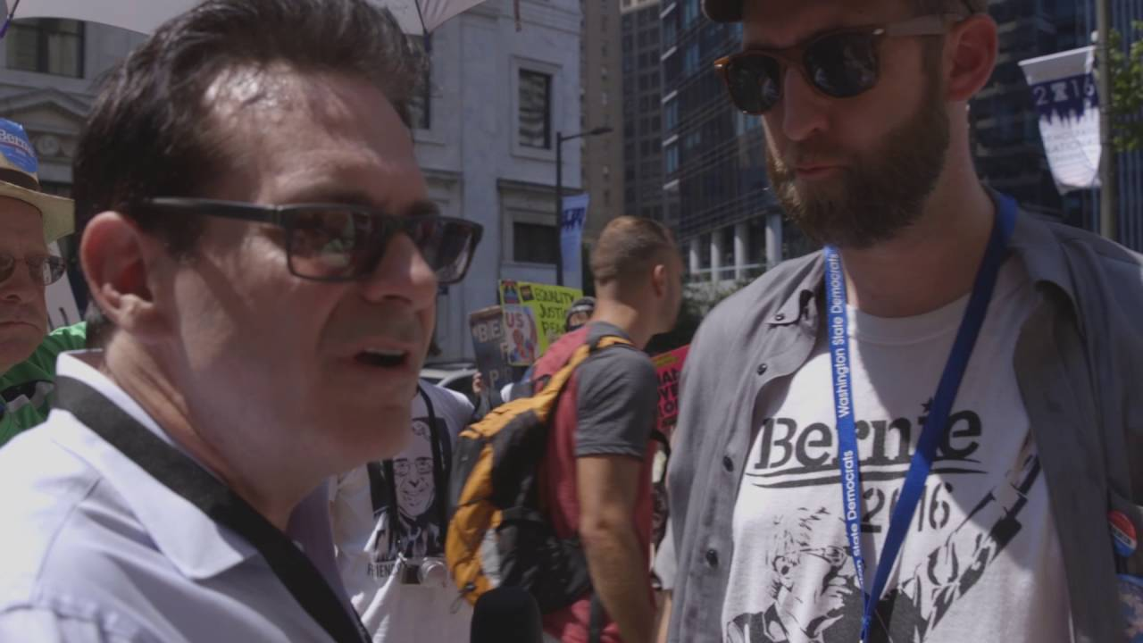Jimmy Dore With Bernie Or Bust Protesters thumbnail