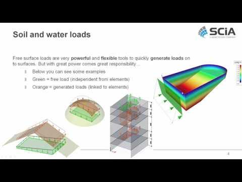 Civil structures (Water reservoir) in SCIA Engineer