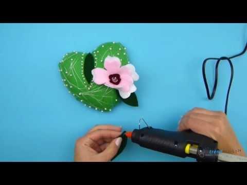 Idee mit Herz - Schöne Dekoration aus Bastelfilz