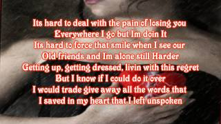 What Hurts The Most - Rascal Flatts With Lyrics