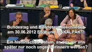 ESM beschlossen - die letzten Tage des EURO ? (Euro-Krise 2012 Schuldenkrise Fiskalpakt Inflation)