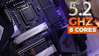 كسر سرعة i7 9700k لي 5.2 GHZ علي كل الانوية - Z390 Aorus Master Review