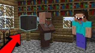 Житель спрятал Сейф с Сокровищем от Нуба в Майнкрафт! Неудачник Нуб И Про против Жителей в майнкрафт