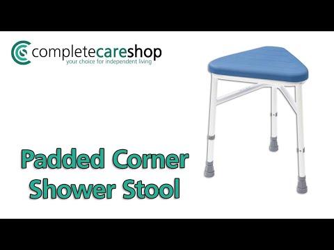 Padded Corner Shower Stool Demo