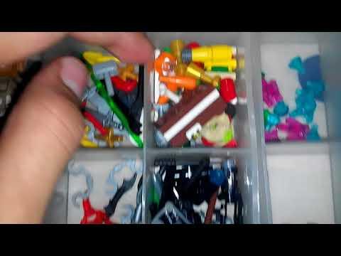 Toda mi colección de piezas y accesorios legos para las minifiguras