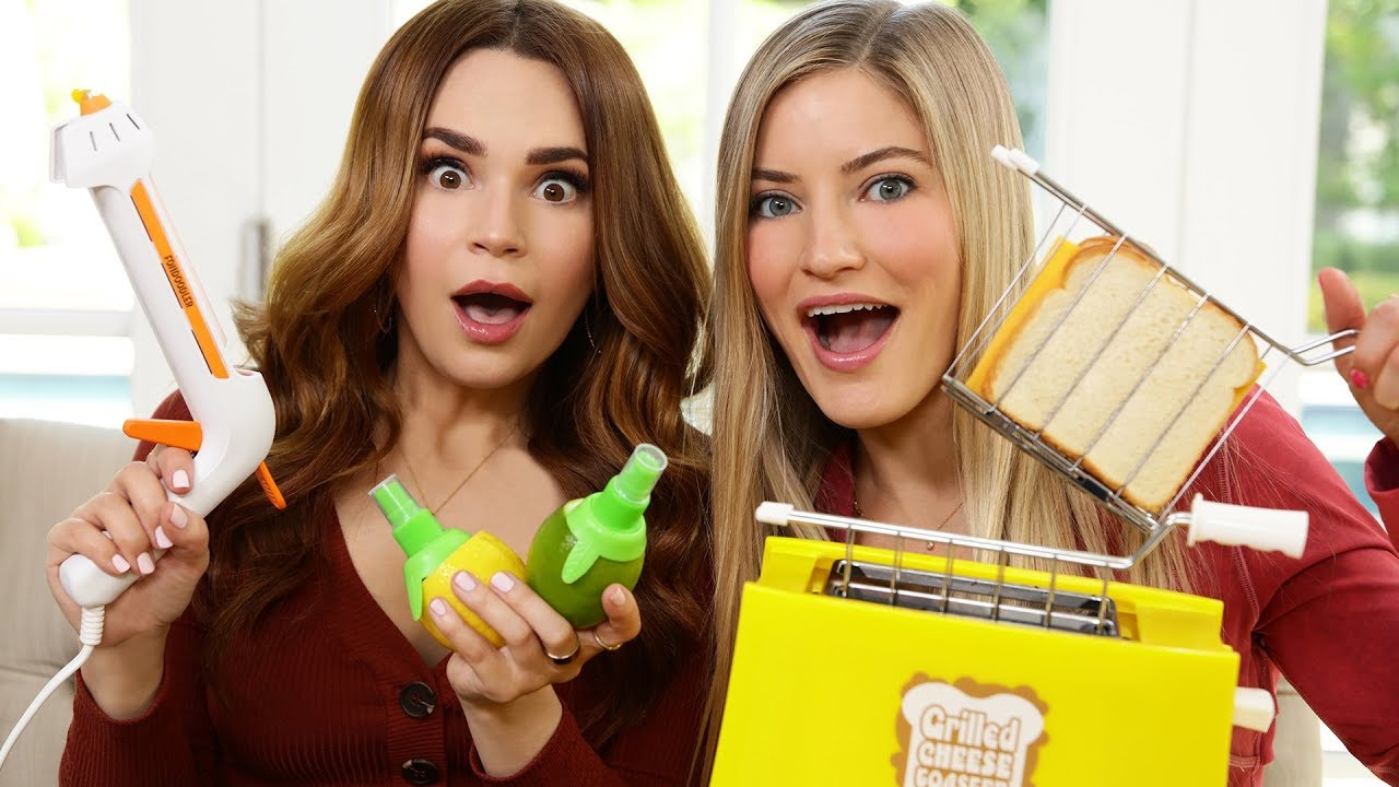 TESTING FUN KITCHEN GADGETS w/ iJustine! thumbnail