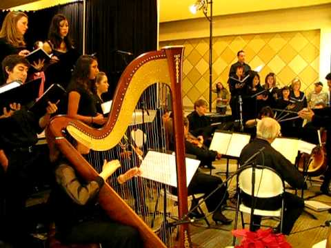 Sara Chasse, teacher at Harp4all, Performing with Cal State Fullerton orchestra