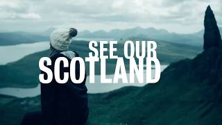 Scotland tour video - girl at Old Man of Storr, Isle of Skye