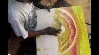 Смотреть онлайн Красивейший пейзаж: картина нарисованная руками