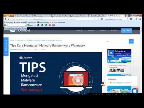 Video Tips dan Panduan Lengkap Termudah Mengatasi Virus Ransomware Wanna Cry