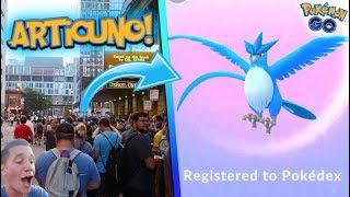 Articuno  - (Pokémon) - *LEGENDARY ARTICUNO* RAID IN POKÉMON GO! THOUSANDS RUN FOR THE FIRST LEGENDARY BIRD IN POKÉMON GO!