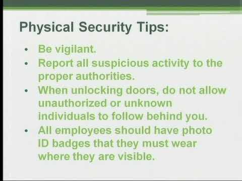 Security Awareness Training: Physical Security - YouTube