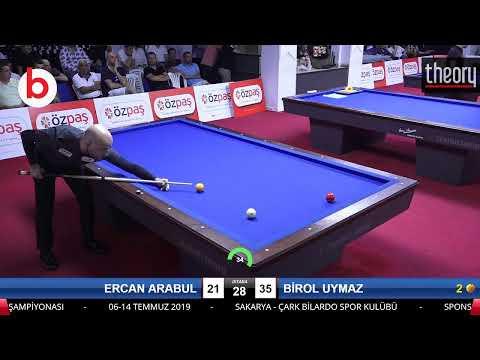 ERCAN ARABUL & BİROL UYMAZ Bilardo Maçı - SAKARYA ÖZPAŞ CUP 2019-FİNAL 1/16