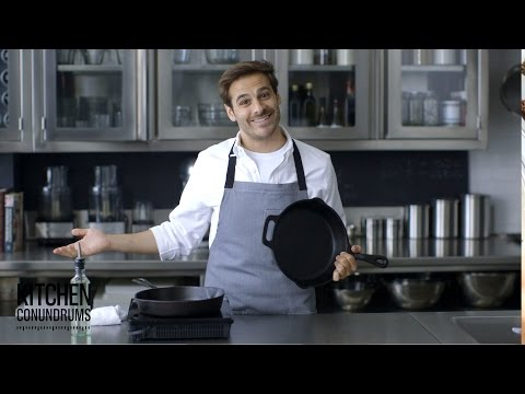 How to Clean and Season a Cast-Iron Skillet – Kitchen Conundrums with Thomas Joseph