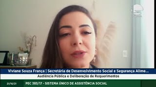 Audiência Pública e Deliberação de Requerimentos - 21/10/2021 09:00