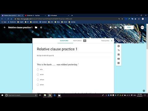 Video hướng dẫn tạo bài tập trên google form