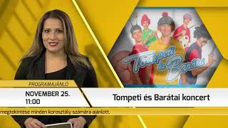 Programajánló / TV Szentendre / 2018.11.22.