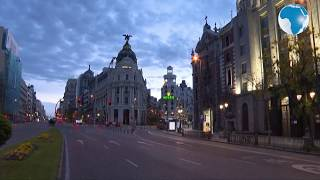 Coronavirus:Spain timelapses of popular  squares in Madrid, now
