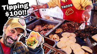 TIPPING $100 Dollars - Mexican Street Food TACOS - Money Sent From SUBSCRIBERS!!