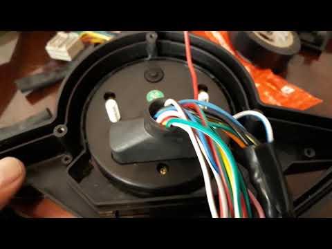 Tutorial 4a. Parte como instalar un velocimetro universal a moto scorpio 300 de la veloci