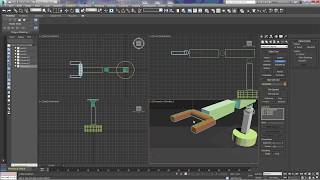 3Ds Max Robot Arm & Excavator Animation Tutorial Using Links Dummies and Look at Constraints: Part 1